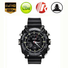 Waterproof 16GB Night Vision HD 1080P Spy Hidden Watch Camera Security Cam DVR