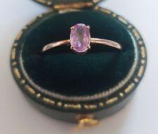 9ct Rose Gold Pink Tourmaline Dress Ring UK O