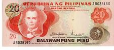 PHILIPPINES 20 PISO CURRENCY UNC