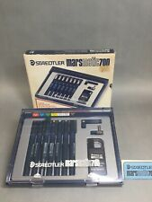 Staedtler Marsmatic 700 Technical Drafting 7-Pen Set w/ Box Refillable SEE PICS