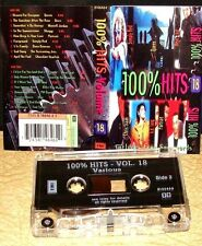 100% HITS - VOLUME 18     - QUEEN,BLUR,SHAGGY,PORTRAIT -         Cassette Tape