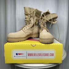 Belleville Vibram Military Tan Army Combat Boots Size 10.5 R Hot Weather USA