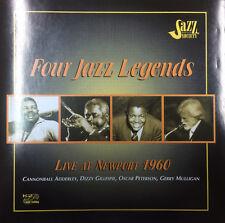 Four Jazz Legends Live At Newport 1960 Adderley Gillespie Peterson Mulligan