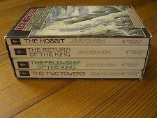 Lord of the Rings & Hobbit, JRR Tolkien, 4 Vol. Slipcase, Houghton-Mifflin 1987