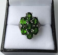 Sterling Silver Chrome Diopside Ring Size K