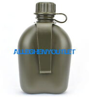 US Military Hard Plastic Canteen w Belt Clip OD GREEN BPA FREE NEW