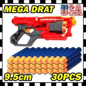 30PCS Navy Refill Foam Bullet Darts Ammo For Strike Mega Blaster toy gun U