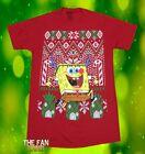 New Nickelodeon Sponge Bob Square Pants Ugly Christmas Sweater  Mens T-Shirt