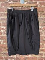 Max Mara Approx L or XL Dark Grey Skirt Made in Italy