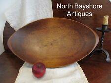 Antique 1800s New England. Hand Hewn Walnut Wood Trencher Dough Bowl aafa