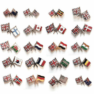 Union Jack Friendship Metal Lapel Pin Badge Choice of Designs FREE UK Delivery!