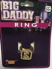 BIG DADDY RING COSTUME ACCESSORY HALLOWEEN PARTY REDUCED TO CLEAR