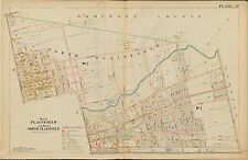 1906 PLAINFIELD NORTH PLAINFIELD UNION, NEW JERSEY LINCOLN SCHOOL COPY ATLAS MAP