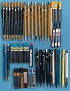 -- Pencil Mechanical Drawing Leads Refill Lot - Staedtler Pentel Ofrex Vintage -