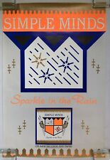 SIMPLE MINDS Sparkle In The Rain 1984 US A&M Records PROMO Only POSTER Jim Kerr