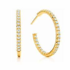 Snap Closure Hoop Natural Yellow Gold Fine Earrings