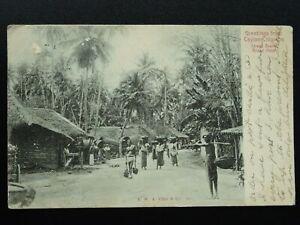 Ceylon Sri Lanka STREET SCENE c1903 UB Postcard by A.W.A. Plate & Co.
