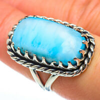 Larimar 925 Sterling Silver Ring Size 7.25 Ana Co Jewelry R46889F