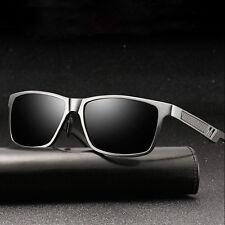 Al-Mg Frame Mens Polarized Sunglasses Driving Sports Mirrored HD Glasses Eyewear