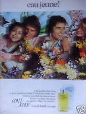 PUBLICITÉ 1973 EAU JEUNE L'EAU DE TOILETTE VIVANTE - ADVERTISING