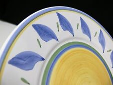 Williams Sonoma Tournesol Dinner Plate Italy Yellow Blue Green Hand Painted
