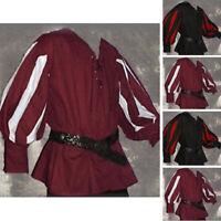 Unisex Medieval Renaissance Long sleeve Medieval Costume Vintage Tunic Shirt Top