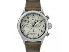 Reloj de Hombre TIMEX WATERBURY TW2R70800 Chrono Cuero Brown Gris Sub 50mt