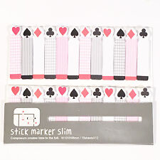 180 Hojas De Póquer Tarjetas Mini Página Notas Adhesivas Etiqueta Marcador Recordatorio Pegatina UK