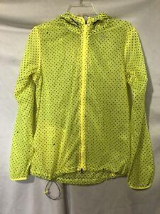 Nike Women's Yellow Cyclone Vapor Running Zip Up Hooded Jacket  Med Excellent!