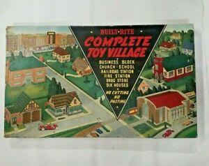 Vintage Warren Built-Rite Toy Village Scale Models Buildings (WDG1)