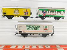 AQ704-1# 3x Märklin H0/AC Güterwagen/Bierwagen DB KK: Wicküler+Rothaus+Weiler