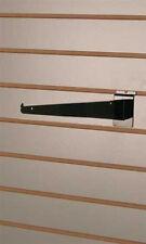 Box of 10 New or Retail Black Slatwall Shelf Bracket 12 inch