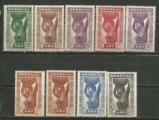 SENEGAL Scott# 179-187* MH (*) MNG Etnias 1938-40