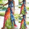 Vestito Maxi Copricostume Donna Woman Multicolor Cover Up Maxi Dress 110176