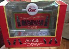 COCA-COLA DIGITAL ALARM CLOCK With NIGHT LIGHT Plug In New