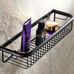 Oil Rubbed Brass Bathroom Shower Soap & Sponge Wire Basket, Tidy Storage yba064