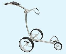 AVALON Edelstahl Golftrolley * Räder silber * 3-Rad Golftrolley