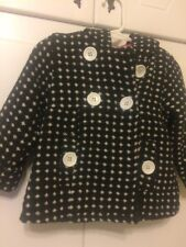 Young Hearts Toddler Hounds Tooth Wool Coat With Hood 18 Mos. Pink Lined
