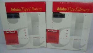 2 Adobe Type Library Berthold Font Softwares 1990-91 Macintosh DOS Windows NEW