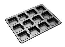 MASTERCLASS Kitchen Craft non stick 12 hole SQUARE BROWNIE baking pan BUN tray