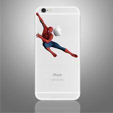 Apple iPhone 6/6s/7/8/X Spiderman swinging decal sticker Marvel comics art (NEW)