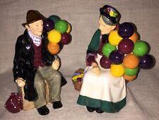 Beautiful Royal Doulton The Old Balloon Seller HN1315 & The Balloon Man HN1954