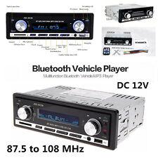 Car In-Dash 1 Din 12V Stereo Radio MP3 Player Bluetooth USB FM AUX w/ Pandora
