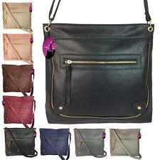 Across Cross Body Handbag Messenger Bag Large Big Long Shoulder Strap Ladies Zip