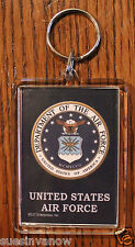 """United States Air Force Key Chain Military Keychain Support Troops USA 3""""X 2"""""""