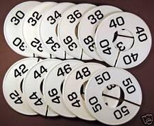 Mens Clothes Closet Hanger Rack Size Dividers Sz 30-50