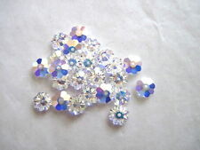 25 pc. SWAROVSKI CRYSTAL AB Loose BEADS 6mm 3700 MARGUERITES Clear Discs, Bridal