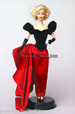 Marilyn Monroe Barbie Doll Red Black Evening Ensemble Celebrity Redress Loose