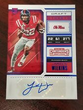 2018 Contenders Draft Ticket Blue Foil Jordan Wilkins Ole Miss Colts RB SP<250