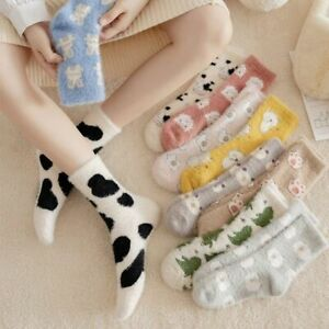 Ladies Women Winter Warm Soft Fluffy Bed Socks Home Mink Fur Fleece Floor Sock